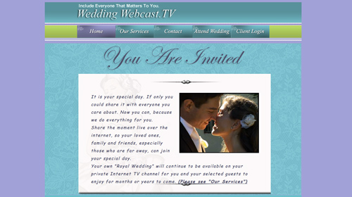 wedding webcastTV